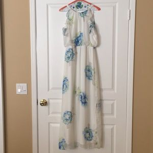 Old Navy Floral Ruffle Maxi Dress Small